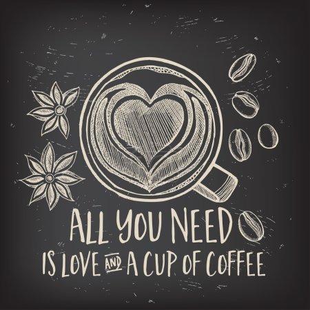咖啡餐厅宣传册矢量,咖啡店菜单设计.矢量咖啡馆模板与手绘图形.图片