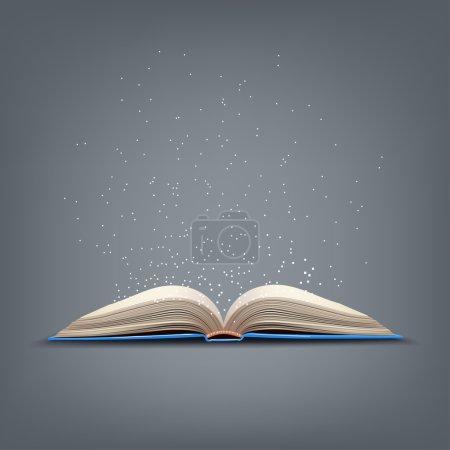 打开蓝色的书