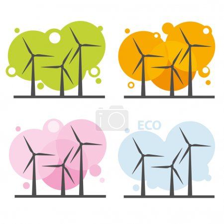 Wind power stations