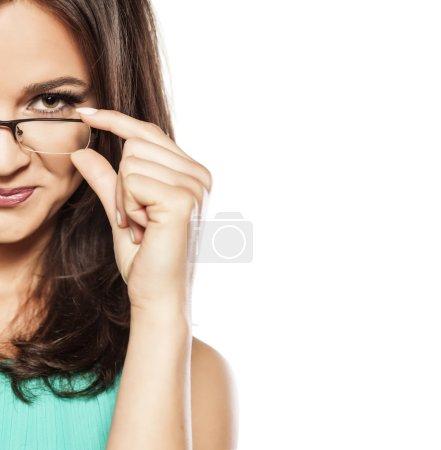 戴着眼镜的黑发_高清图片_邑石网