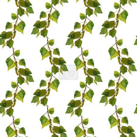 无缝春天背景与绿色白桦叶_高清图片_邑石网