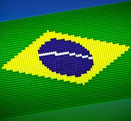 Flag Brazil Tribune