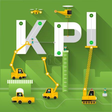施工现场起重机建立 kpi 文本,矢量图模板设计