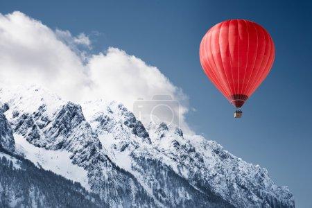 冬天的景色气球