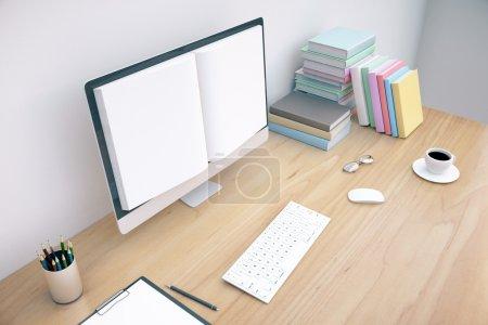 Book screened computer
