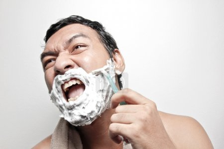 man fear of shaving_高清图片_邑石网