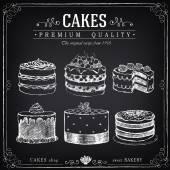 矢量手绘集合蛋糕