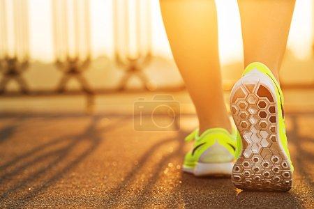 Runner woman feet