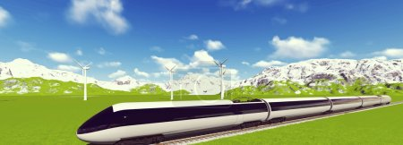 Modern high speed trains Vector image train 5
