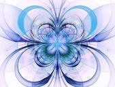 抽象形背景。鲜艳的花朵,蝶阀的形象
