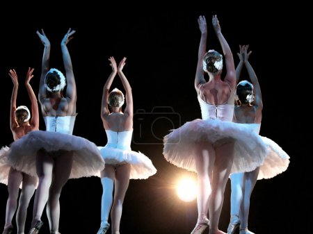 Ballet dancers on the stage