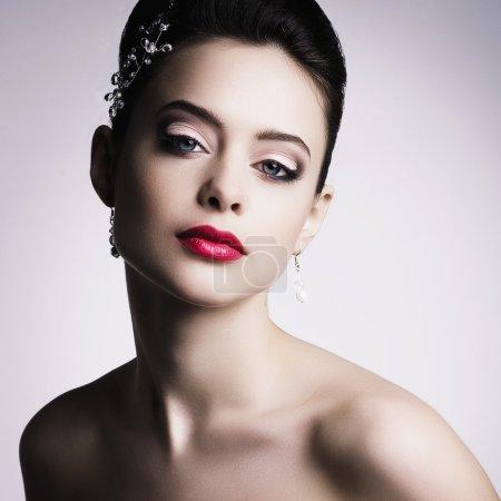优雅的女人,美丽化妆
