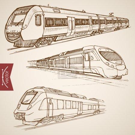 Pencil Sketch railway transport
