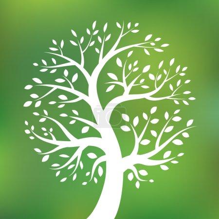 有机绿色树标志,生态标志,生态自然的符号,矢量图