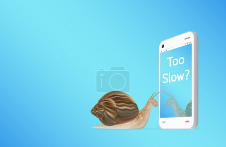 smartphone with snail