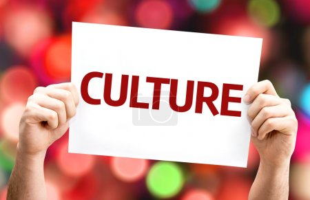 Culture card  In hands
