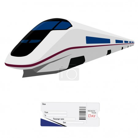 High speed train and ticket