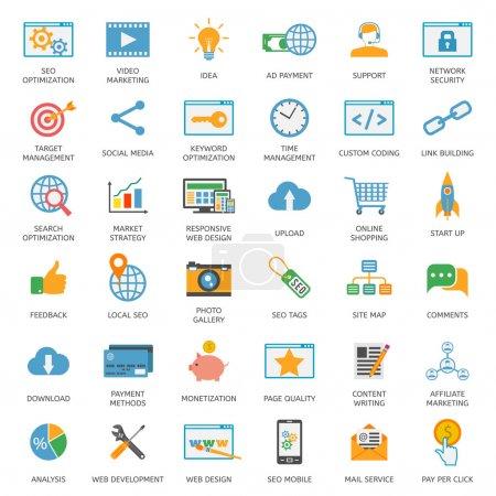 SEO optimization icons