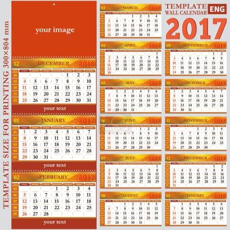 英语模板墙上季度的日历 2017_高清图片_邑石网