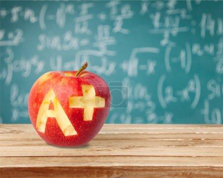 红苹果与 A 的照片
