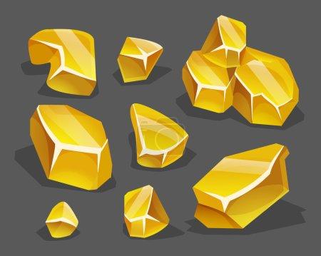 巨石群中不同金.矢量图