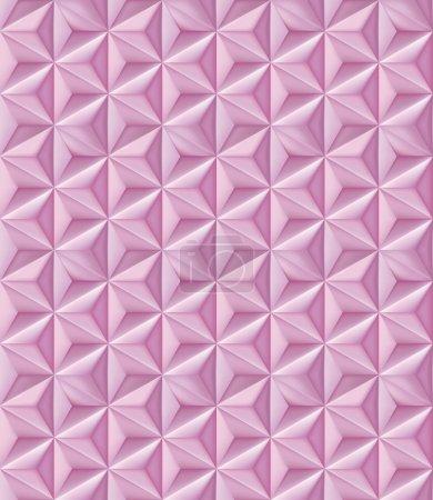 抽象的几何图案。粉红色的三角形多边形的模式