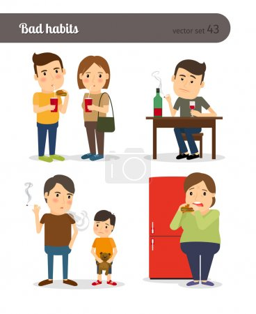 Bad habits. Drunkenness and overeating