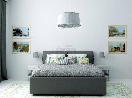 呈现的灰色经典卧室