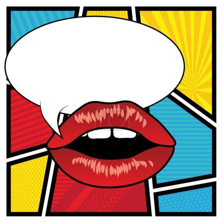 波普艺术的嘴唇-泡沫.矢量图