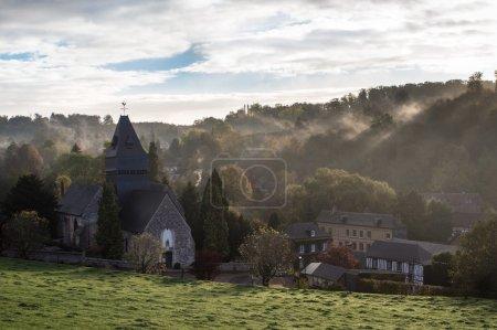 Lyons la foret in the morning fog