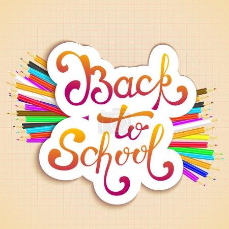 欢迎回到学校背景,与手绘字体
