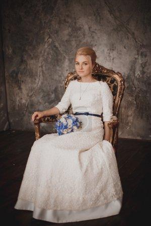 新娘的肖像。婚礼摄影